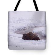 Buffalo In Snow   #6143 Tote Bag