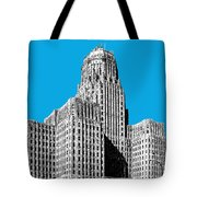 Buffalo New York Skyline 1 - Ice Blue Tote Bag