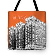 Buffalo New York Skyline 2 - Coral Tote Bag