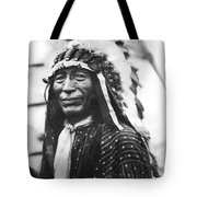 Buffalo Nickel Portrait Tote Bag by Underwood Archives