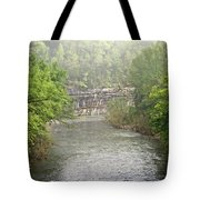 Buffalo River Mist Horizontal Tote Bag by Marty Koch