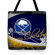 Buffalo Sabres Christmas Tote Bag