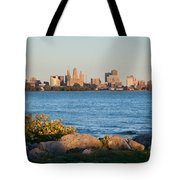 Buffalo Skyline From Fort Erie Tote Bag