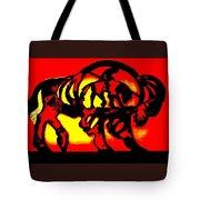 Buffalo Sun Set Tote Bag