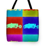 Bugatti Type 35 R Pop Art 2 Tote Bag by Naxart Studio