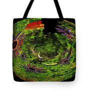 Bugs At The Zoo Daisies And Dragonfly Tote Bag