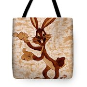 Bugs Banny Original Coffee Painting Tote Bag