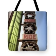 Build Your Ride Signage Downtown Disneyland 01 Tote Bag