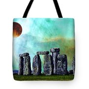 Building A Mystery 2 - Stonehenge Art By Sharon Cummings Tote Bag