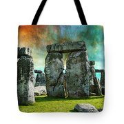 Building A Mystery - Stonehenge Art By Sharon Cummings Tote Bag