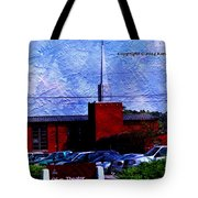 Building As A Painting Tote Bag