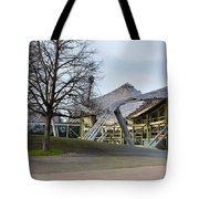 Building At Olympic Village Munich Germany Tote Bag