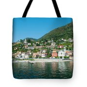 Building In A Town At The Waterfront Tote Bag