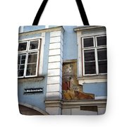 Building In Blue Tote Bag