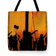 Building Silhouettes In Color Tote Bag