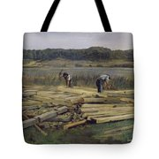 Building Site At Wesslingersee, 1876 Oil On Canvas Tote Bag