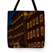 Building Windows Outlined In Lights Tote Bag