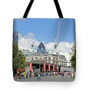 Building Work In The City Of London Tote Bag