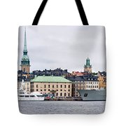Buildings At The Waterfront, Gamla Tote Bag