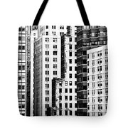 Buildings Bw Tote Bag