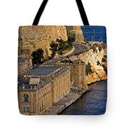 Buildings By The Mediterranean Sea Tote Bag