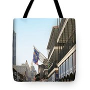 Buildings In A City, Four Points By Tote Bag