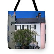 Buildings In A City, Rainbow Row Tote Bag