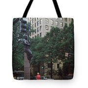 Buildings In A City, Trade And Tryon Tote Bag