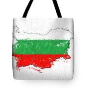 Bulgaria Painted Flag Map Tote Bag