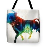 Bull Art - Love A Bull 2 - By Sharon Cummings Tote Bag
