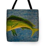 Bull Dolphin Mahimahi Fish Tote Bag