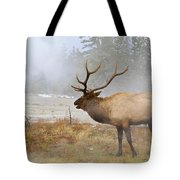 Bull Elk Bugles Loves In The Air Tote Bag