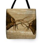 Bull Elk In The Rut   #8924 Tote Bag