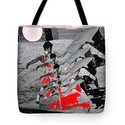 Bull Fight Matador Charging Bull Us Mexico Border Town Nogales Sonora Mexico Collage 1978-2012 Tote Bag
