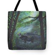 Bull Moose Pond Tote Bag