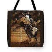Bull Riding 1 Tote Bag