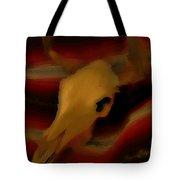 Bull Skull One Tote Bag by John Mlaone