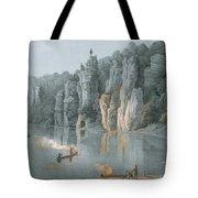 Bullard Rock On The New River Tote Bag