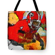 Bulldog Back Tote Bag