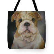 Bulldog Puppy Tote Bag