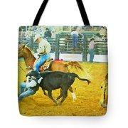 Bulldoggin Cowboys Tote Bag