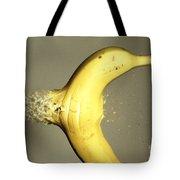 Bullet Piercing A Banana Tote Bag