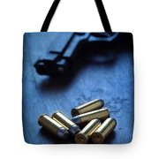 Bullets And Handgun Tote Bag