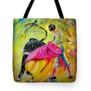 Bullfighting In Neon Light 01 Tote Bag