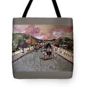 Bullock Cart On Bridge Tote Bag