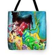 Bulls From Toledo Tote Bag