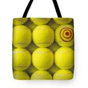 Bullseye Tennis Balls Tote Bag
