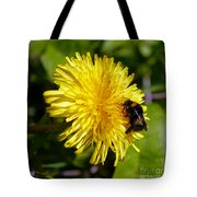 Bumble Bee And Dandelion Tote Bag