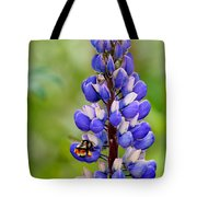 Bumble Bee And Lupine Tote Bag
