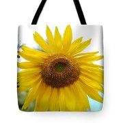 Bumble Bee And Sunflower Tote Bag